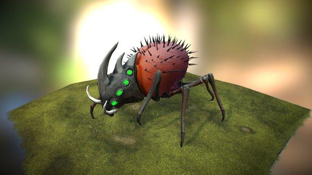 Spider Rino Walk 3D Model