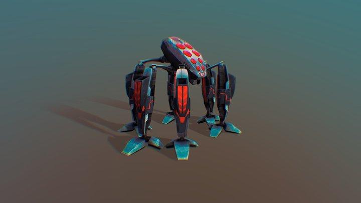 Spider Bot Rig 3D Model