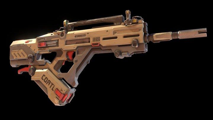 Coatl Assault Rifle 3D Model