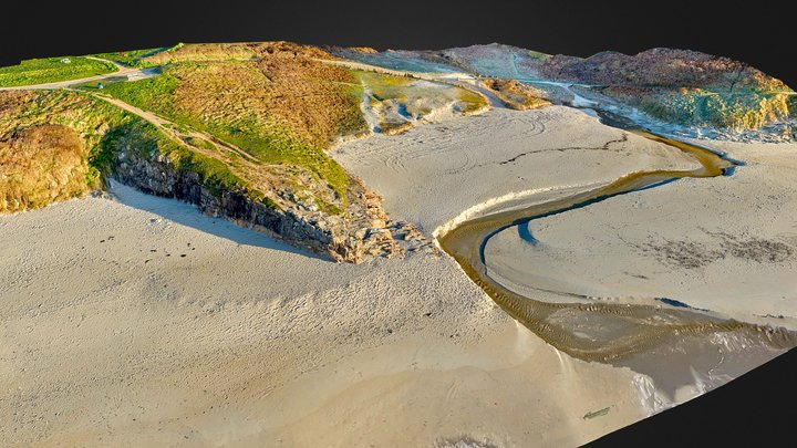 Raguenez beach 3D Model