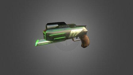Pistol Low Poly 3D Model