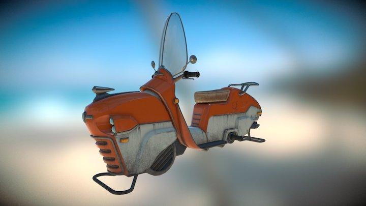 Dieselpunk Moto 3D Model