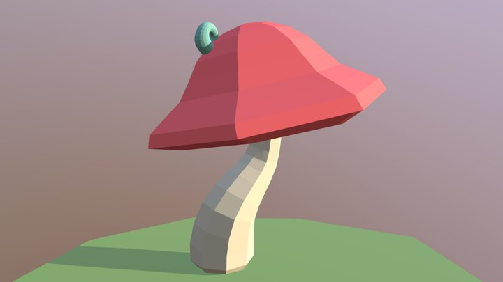 Low Poly Mushroom 3D Model
