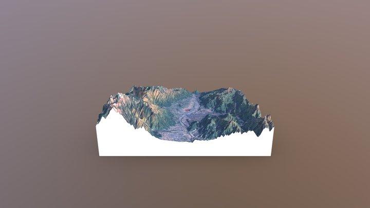 後期旧石器最終末~縄文草創期最初頭 南箕輪村神子柴遺跡付近の地形 3D Model