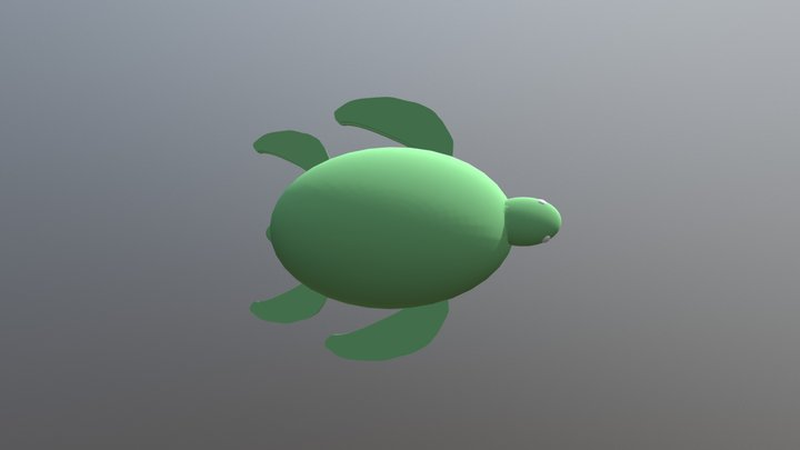 Squirtle the Vacuum Turtle 3D Model