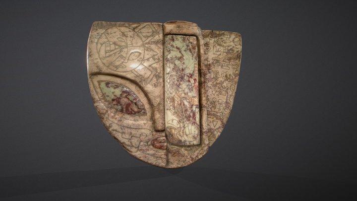 3 parts of sarcophagus head | Mexico 3D Model