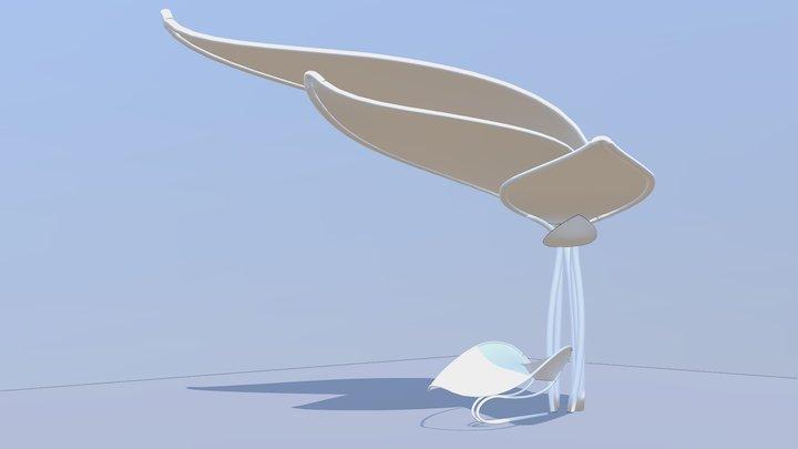 Koncepcja - siedzisko i zadaszenie 3D Model