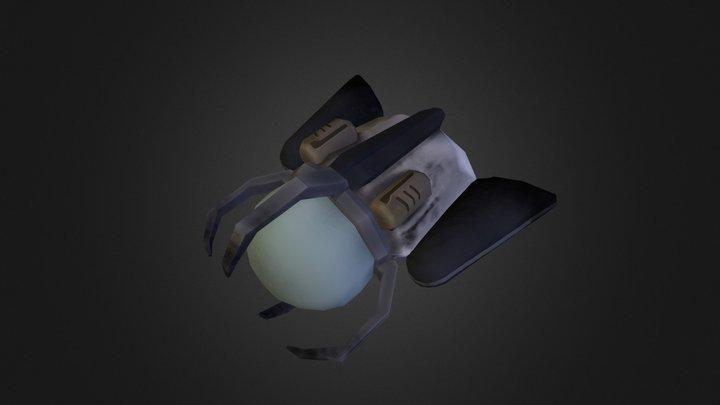 Space Laser Ship 3D Model