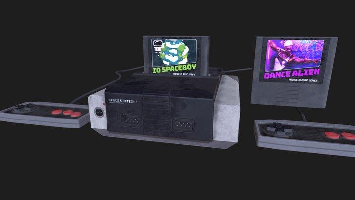 Video Game Retro Console_02 3D Model