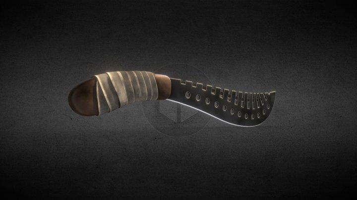 High detail Machete PBR 3D Model