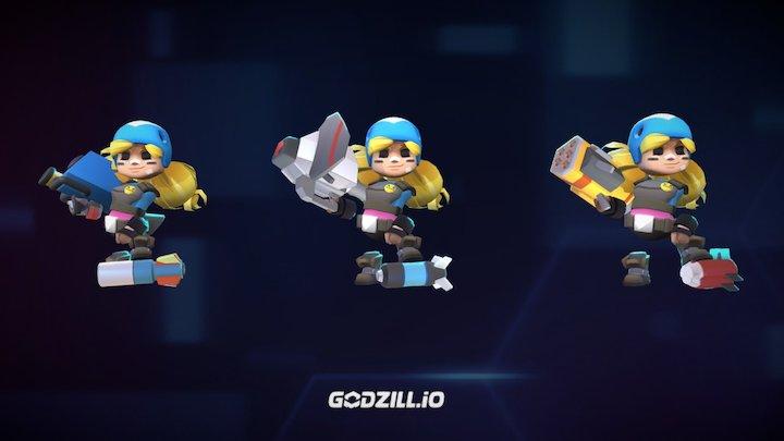 Godzill.io - Ms Launcher line up 3D Model
