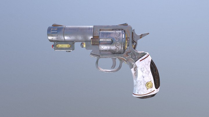 Ulysses Revolver - Dirty 3D Model