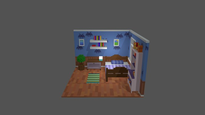 [Low Poly] Room 3D Model