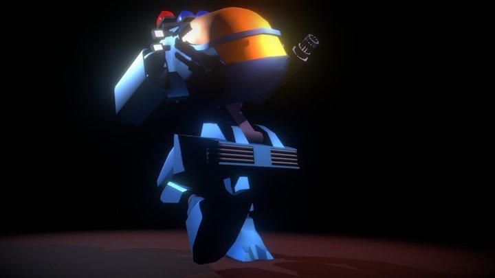 X1-Alpha mech (from Future Cop: LAPD) 3D Model
