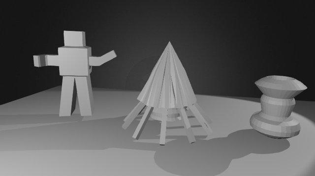 Primitive Models 3D Model