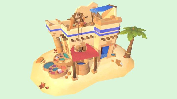 Egyptian color dye workshop 3D Model