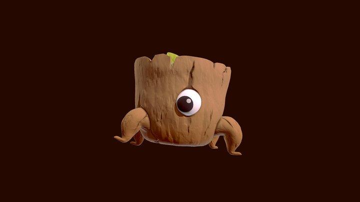 Maplestory Tree Stump 3D Model
