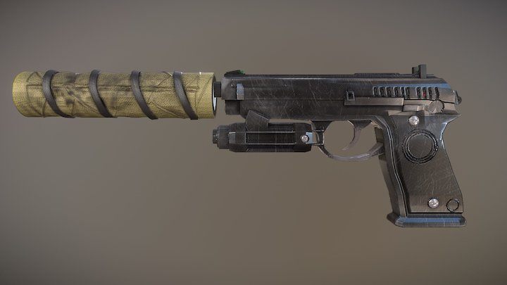 Caviera's Luison Pistol 3D Model