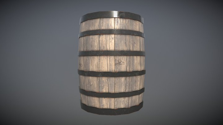 Pirate Barrel 3D Model