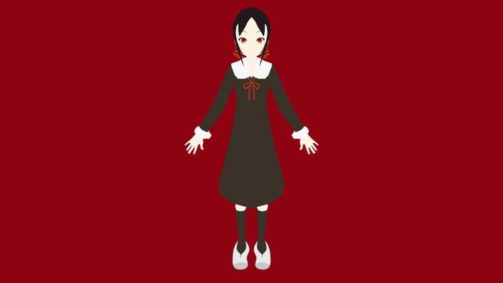 Kaguya Shinomiya from Kaguya-sama: Love is War 3D Model