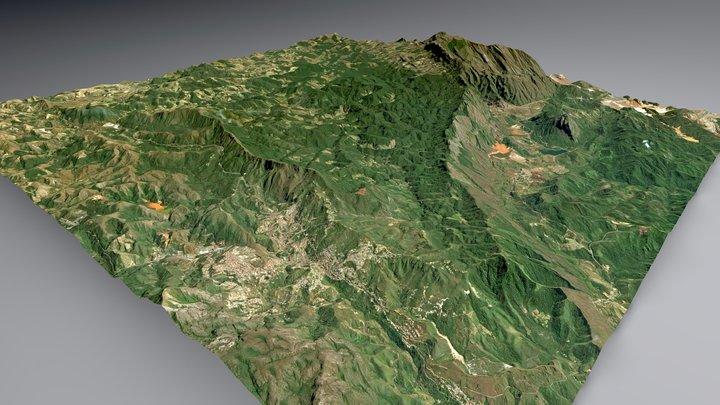 Mariana Anticline 3D Model