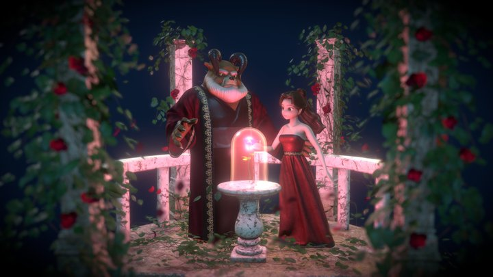 Beauty and the Beast 3D Model