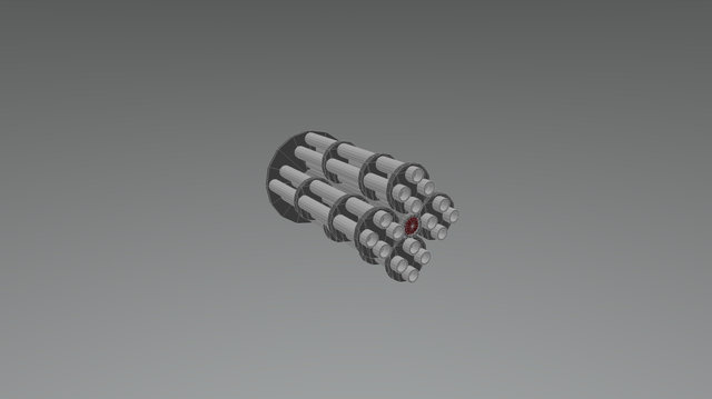 Minigun Sentry 3D Model