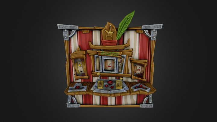 Slot Machine B (Sly Cooper: Thieves in Time) 3D Model