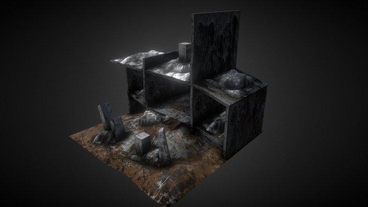 Destroyed Building shell 3D Model