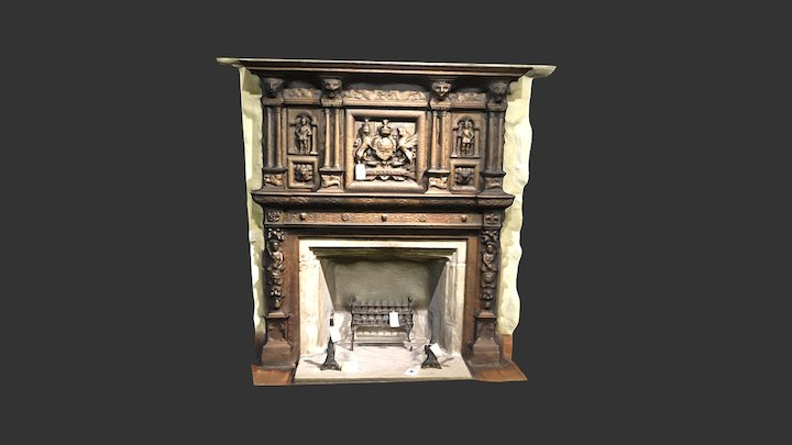 Oatlands Park Fireplace 3D Model