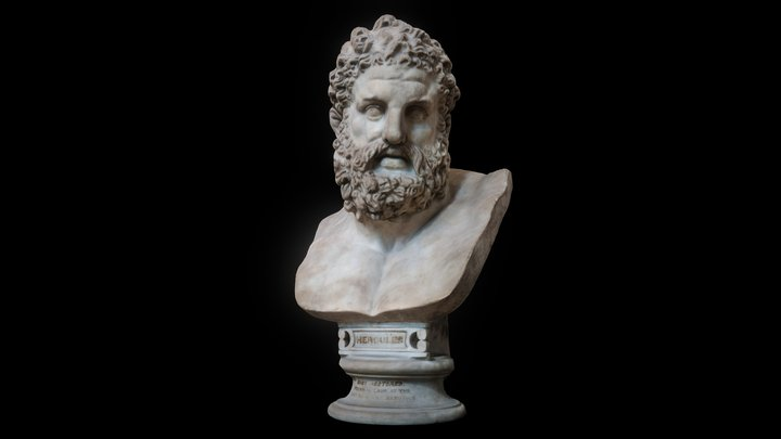 Marble bust of Herakles (Greek) Hercules (Roman) 3D Model