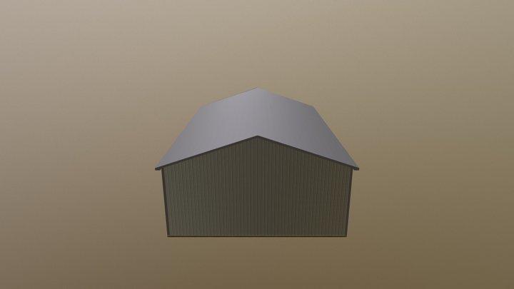Pole Barn - 40 x 60 x 16 x 4:12 3D Model
