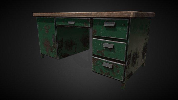 Metal Desk 3D Model