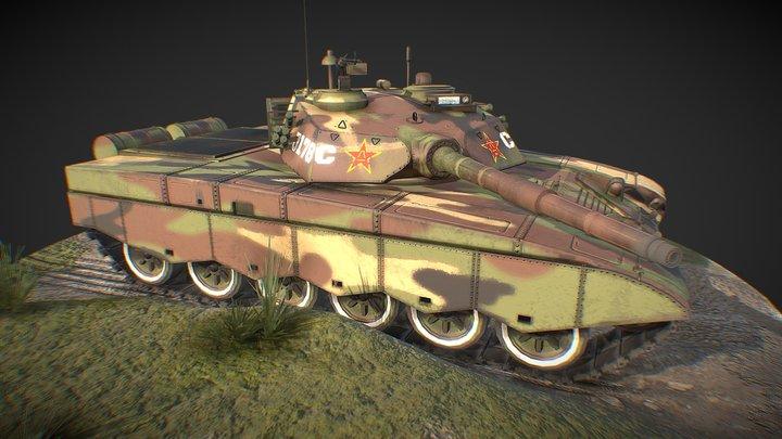 T98 Main Battle Tank 3D Model