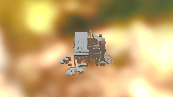 Broken Horse carriage Home makeshift 3D Model