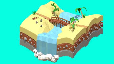 Desert Bridge 3D Model