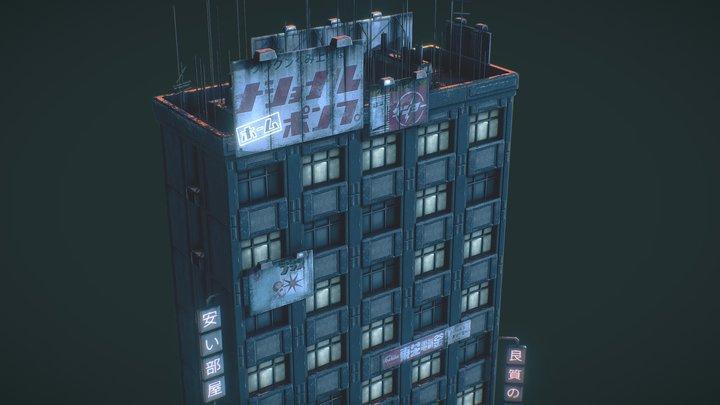 Dystopian Cyberpunk Skyscraper 3D Model
