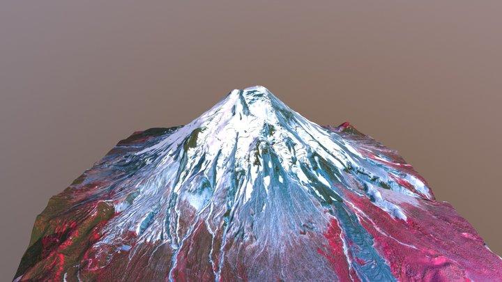 Mount St. Helens Pre-1980 Surface, False Color 3D Model