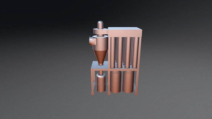 Ciclone 100  - MOTOR DE 10,0 HP 3D Model
