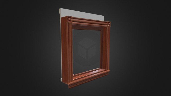 Lowpoly Antique Window (34in 1 Light Single) 3D Model