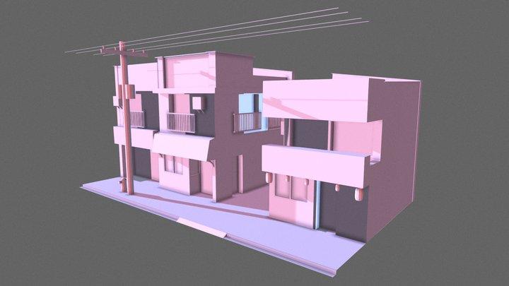 Fujiwara Tofu Store 3D Model