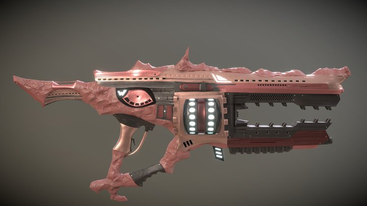 Heavy weapon The Running Wolf 3D Model