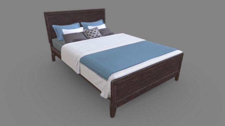Casual Bed 3D Model