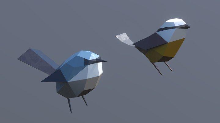 Papercraft Birds 3D Model