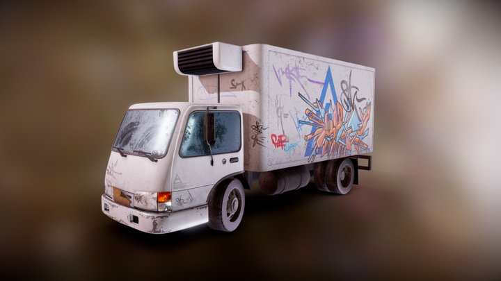 NYC Graffity Truck 3D Model