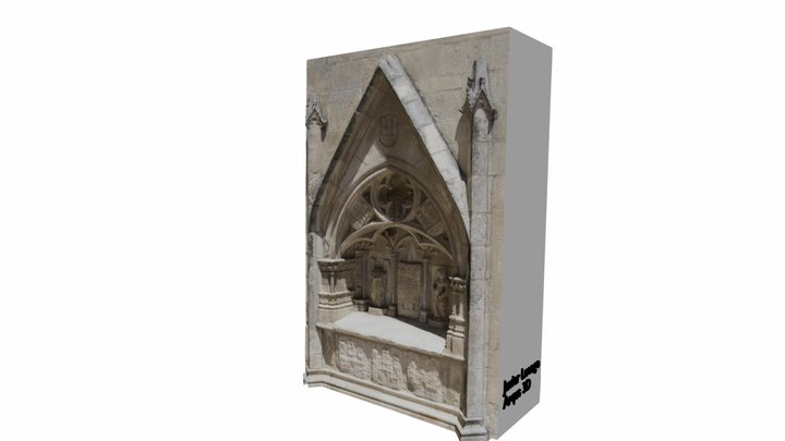 Arquitectura exterior Catedral de Burgos 3D Model