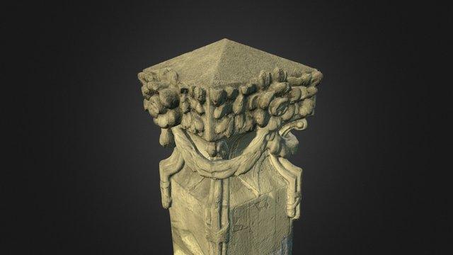 Pilar remanescente do antigo gradil da UFRGS 3D Model