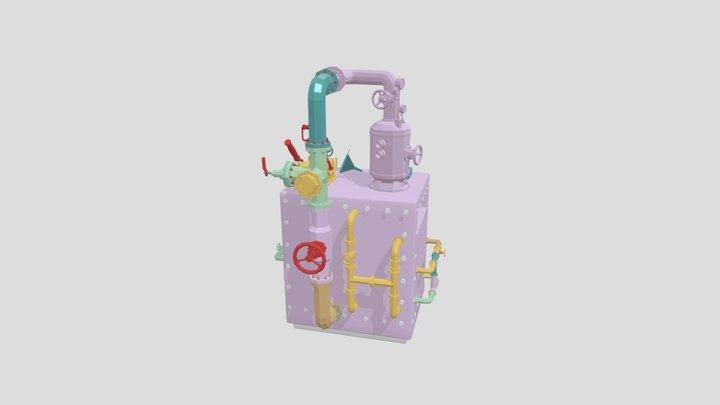 Interactive Biscuit Factory Oven 3D Model
