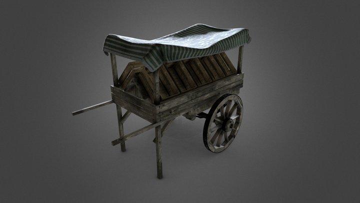 Old Fruit Cart 3D Model