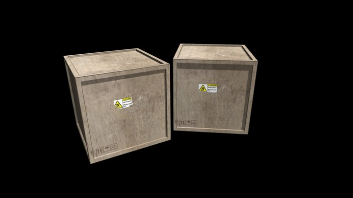Simple Wooden Crate 3D Model